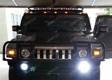 hummer h2 led lights 5 pieces smoked roof cab marker running led lights for