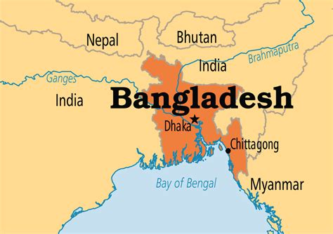 Bangladesh World Map by Bangladesh Operation World