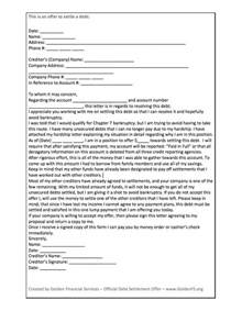 Debt Settlement Offer Letter Template by How To Settle Debt On Your Own Debt Settlement Letters