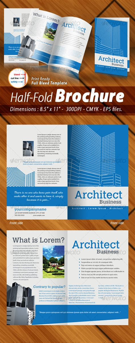 half page brochure template future various templates