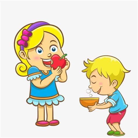 imagenes de niños jugando y comiendo los ni 241 os de dibujos animados los ni 241 os de dibujos