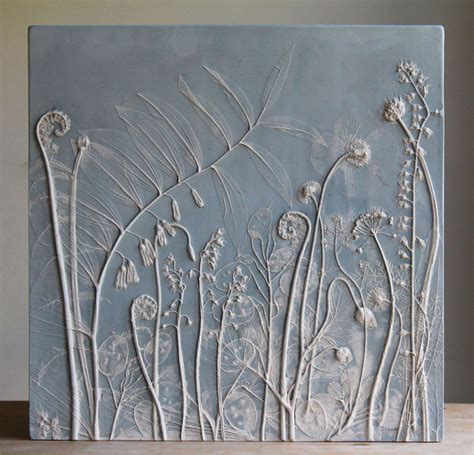 Handmade Tile - fossilized flower decor handmade tiles