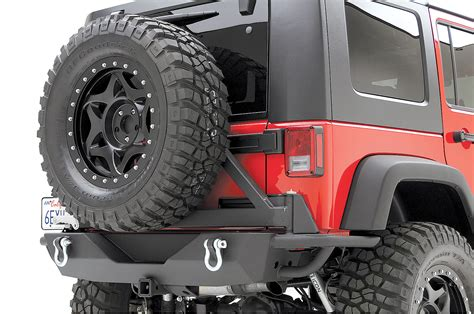 jeep rear bumper with tire carrier smittybilt rear src bumper with 2 quot receiver swing away