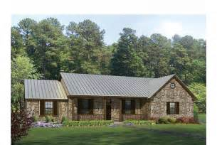 House Plans Ranch Style Texas Hill Country Split Bedroom Plan Hwbdo69040 Ranch