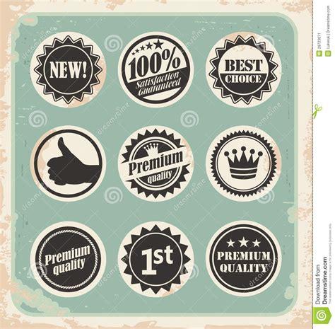 set  promotional retro labels badges stamps