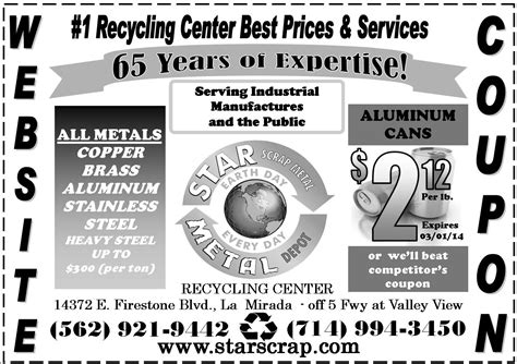 cans star scrap metal recycling