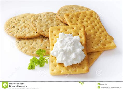 Cottage Cheese Crackers by Crackers And Cottage Cheese Stock Photos Image 25440113