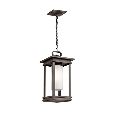 rubbed bronze outdoor lighting shop kichler lighting south 19 in rubbed bronze