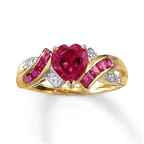 ruby ring simulated ruby ring in yellow gold