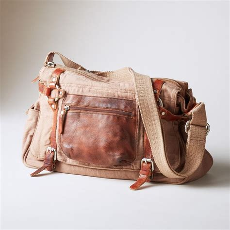 Bag Of Plenty by Bound Bag This Washed Canvas And Leather Bag Is
