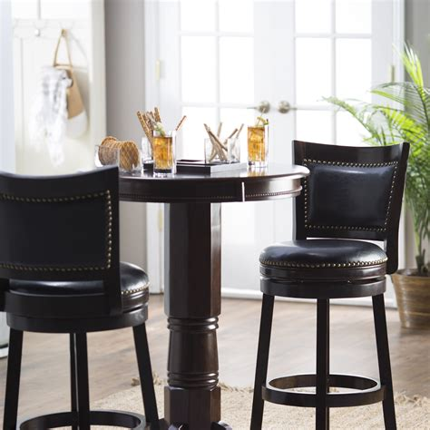 bar table set boraam 3 florence sunburst pedestal pub table set