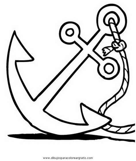 anclas de barcos para colorear dibujo de un ancla de barco imagui