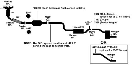2004 ford taurus exhaust system diagram 2003 ford focus se exhaust diagram ford auto parts