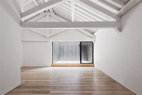 Ceiling Beams White by White Beams Vaulted Ceiling Wood Floors Interior