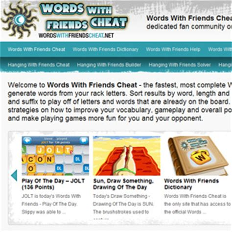 New Site Launch – Words With Friends Cheat : Words With ... Words With Friends Cheat List