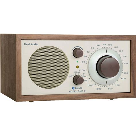 desk radio with bluetooth tivoli model one bluetooth am fm radio walnut beige m1btcla
