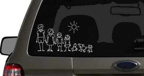 Aufkleber Auto Familie by My Family Car Sticker Dezign With A Z