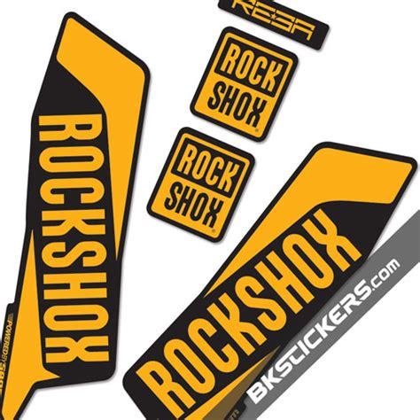 Rock Shox Stickers Orange rockshox reba 2016 stickers kit black forks bkstickers