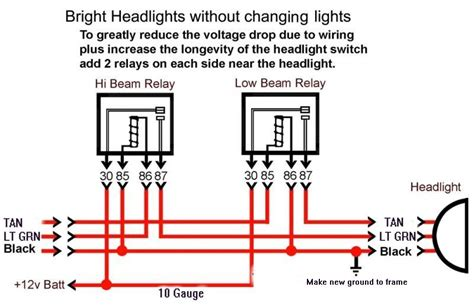 wiring diagram for relay for headlights the wiring