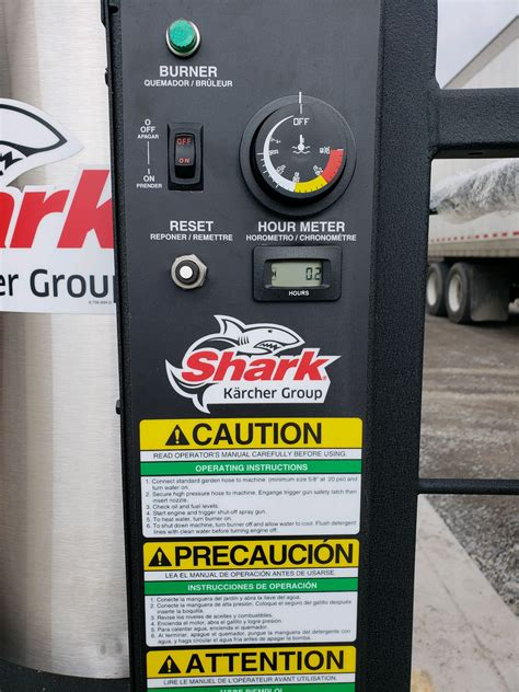 shark sgp  hot pressure washer  electric start patriot contractors equipment