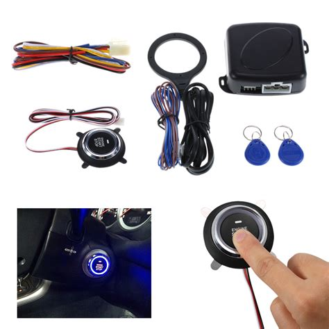 Alarm Mobil Push Button Start Rfid Lock With Remote Keyless Entry auto car alarm engine starline push button start stop rfid lock ignition switch keyless entry
