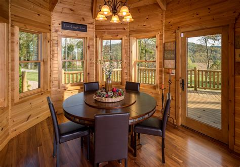octagon shaped dining room  timber frame roof