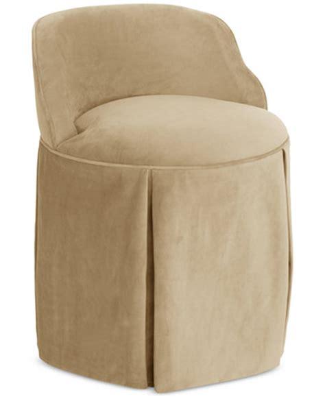 skirted vanity stool jasmine skirted vanity chair quick ship furniture macy s