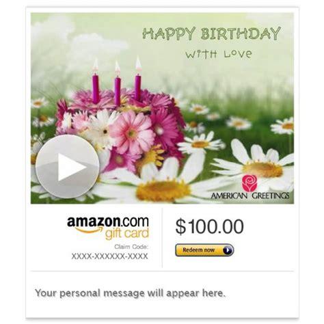 E Gift Cards Amazon - amazon egift card birthday flowers animated american greetings save you moola