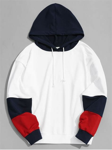 Hoodie Zipper Esp Dennizzy Clothing color block hoodie clothes white hoodies sweatshirts m zaful