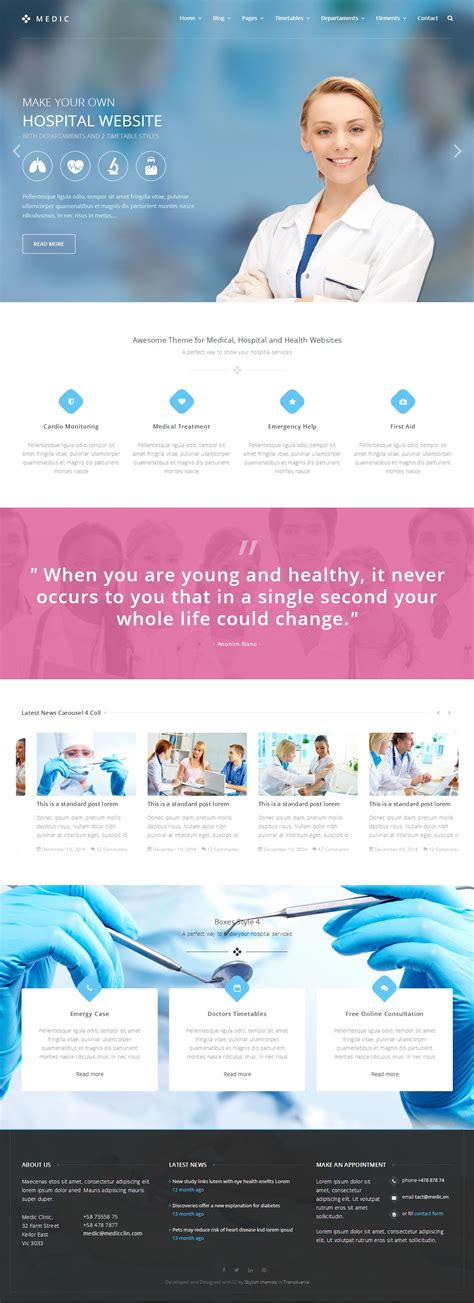 5 best responsive medical healthcare html5 templates