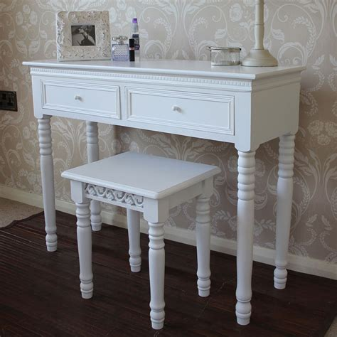 white shabby chic french style dressing table and stool melody maison 174