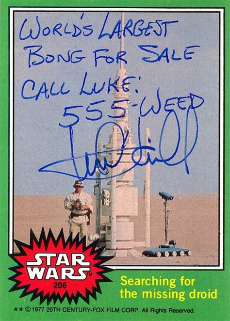 of atari signed edition books hamill s hilarious autographed wars cards