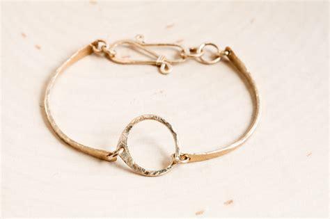 Handmade Gold Bracelet - simple zen circle handmade small circle bracelet