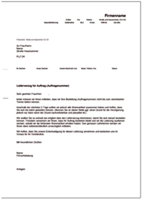 Musterbrief Lieferverzug Entschuldigungsschreiben Bei Verz 246 Gerung Des Liefertermins De Musterbrief