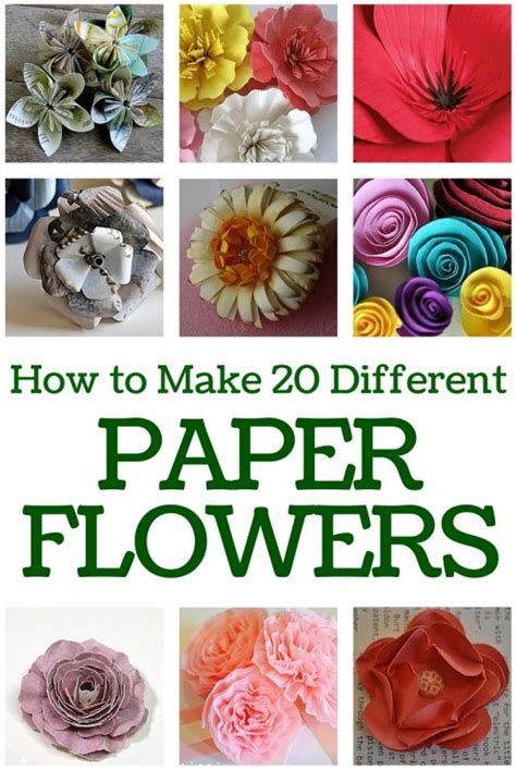 How To Make Flowers Out Of Paper For - how to make 20 different paper flowers the crafty