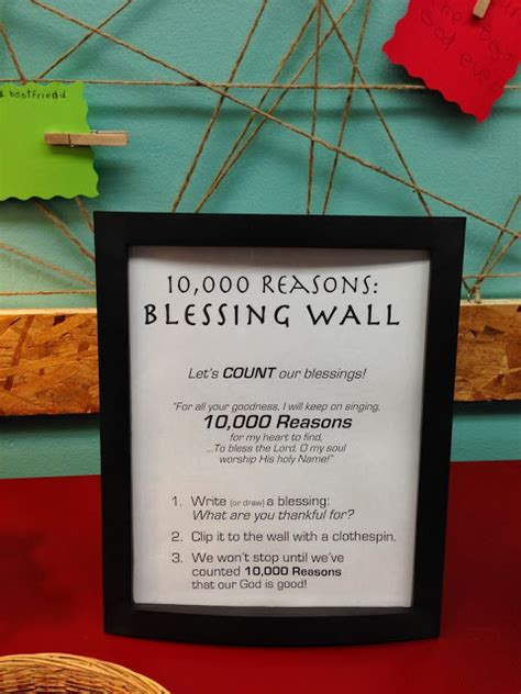 how to bless a room with a prayer vcc worship response stations wall of blessing