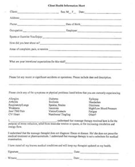massage client waiver form picture massage therapy