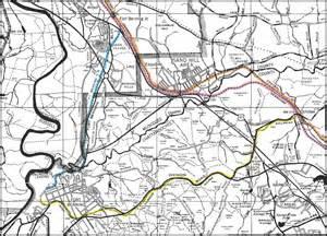 fort benning narrow railroad 1943 map