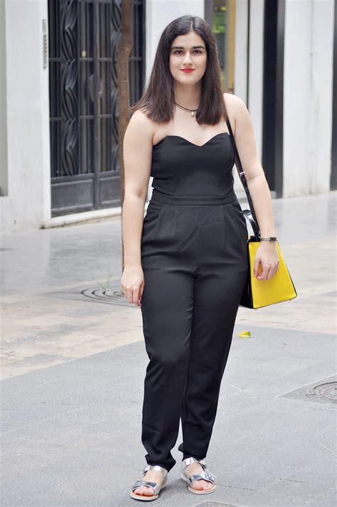 Flatshoes R 22 22 lastest black jumpsuit with flat shoes snocure