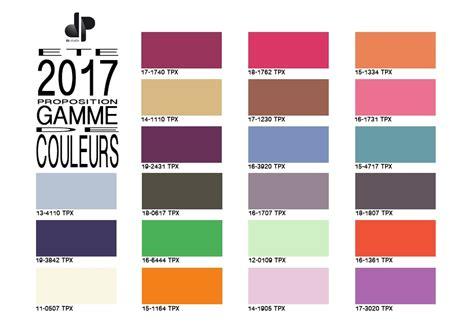 Couleur Tendance 2017 by Gamme De Couleurs Pour Les Tissus Du Printemps 233 T 233 2017