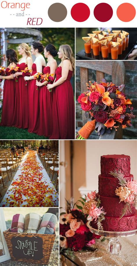 fall colors for weddings 6 practical wedding color combos for fall 2015