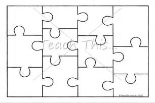 Puzzle Template by Jigsaw Puzzle Template Printable Resources
