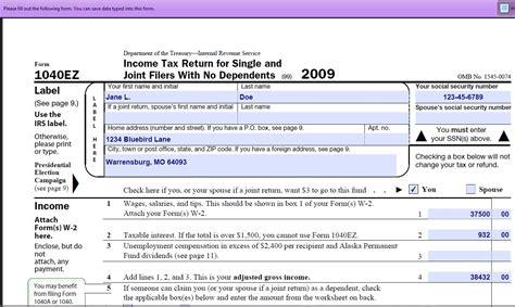 Printable 1040ez Tax Form
