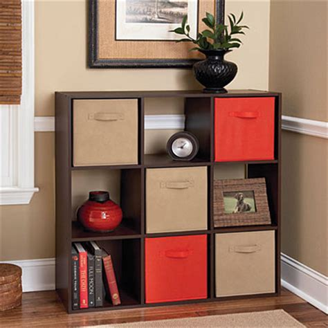 ameriwood system build 9 cube cherry storage cubby big