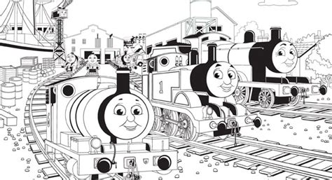 thomas and friends coloring page birthday party pbs