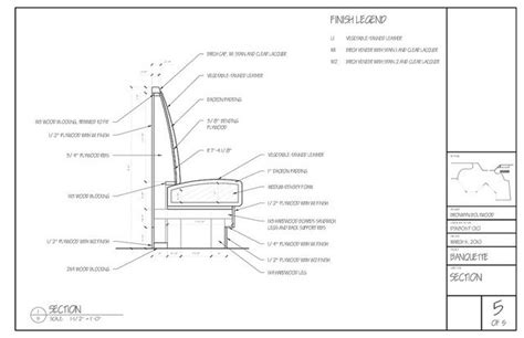 Banquette Seating Plans standard banquette details 06 by bronwynboltwood via flickr ergonomics cad
