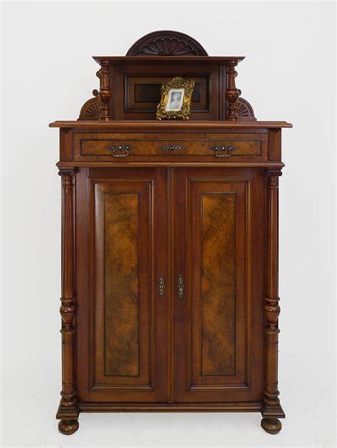 alter schrank vertiko schrank kommode gr 252 nderzeit um 1880 nussbaum