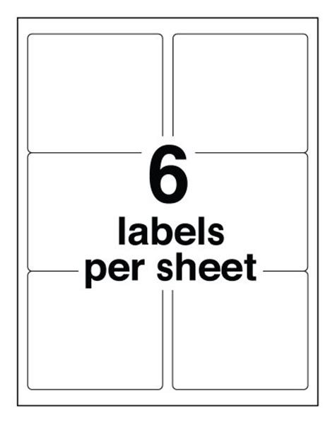 33 label template avery shipping labels for ink jet printers with trueblock