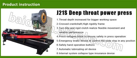 deepthroat bed j21s 80tons deep throat power press with fixed bed buy press punching machine 25t