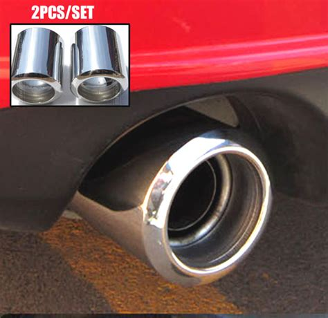 Muffler Cuter Mazda Cx 5 2x muffler tips fit for mazda 6 cx 5 exhaust tailpipe end trim chrome cover lid
